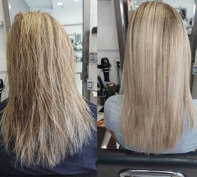 ispravljanje kose keratinom rezultati